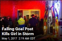 Falling Goal Post Kills Girl in Storm