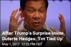 Controversial Filipino Leader May Not Accept Trump's Invite