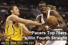 Pacers Top 76ers, Win Fourth Straight