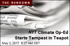 'Tiny Fraction' of NYT Readers Cancel Over Climate Op-Ed