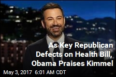 As Key Republican Defects on Health Bill, Obama Praises Kimmel
