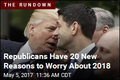 Republicans Have 20 Reasons to Be Nervous About 2018