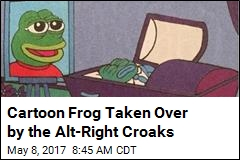 Cartoon Frog Taken Over by the Alt-Right Croaks