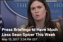 Press Briefings to Have Much Less Sean Spicer This Week
