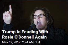 Trump Trolls Rosie O'Donnell on Twitter