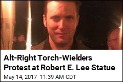 Alt-Right Torch-Wielders Protest at Robert E. Lee Statue