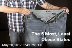 The 5 Most, Least Obese States