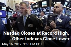 Nasdaq Closes at Record High, Other Indexes Close Lower