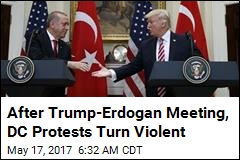 After Trump-Erdogan Meeting, DC Protests Turn Violent