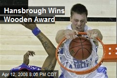 Hansbrough Wins Wooden Award
