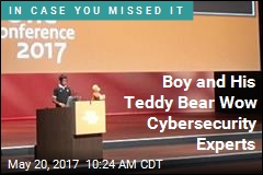 Boy and His Teddy Bear Wow Cybersecurity Experts