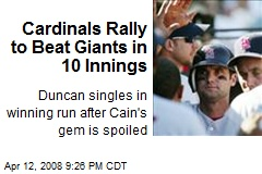 Cardinals Rally to Beat Giants in 10 Innings