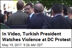 In Video, Turkish President Watches Violence at DC Protest