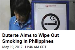 Filipino Strongman's New Target: Smokers