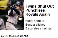 Twins Shut Out Punchless Royals Again