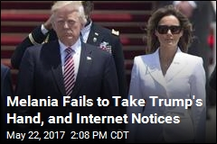Trumps' Hand-Holding Miss Is Dissected on Internet