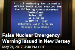NJ Residents Accidentally Warned of Nuclear Emergency