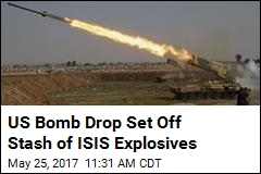 US Bombed ISIS Explosives, Killed 105 Civilians