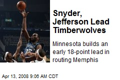 Snyder, Jefferson Lead Timberwolves