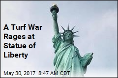 At the Statue of Liberty, a Turf War