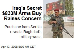 Iraq's Secret $833M Arms Buy Raises Concern