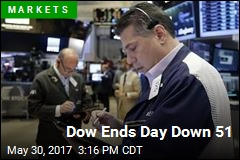 Dow Ends Day Down 51