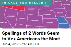 Spellings of 2 Words Seem to Vex Americans the Most