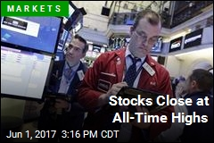 Stocks Close at All-Time Highs