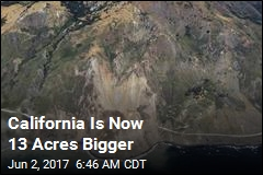 California Is Now 13 Acres Bigger
