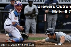 Brewers Outrun Mets, 9-7