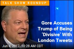 Gore on Trump's Tweets: It's Not 'Time to Be Divisive'