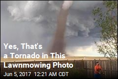 Yes, That's a Tornado in This Lawnmowing Photo