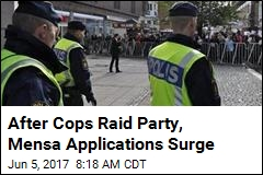 After Cops Raid Party, Mensa Applications Surge