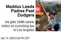 Maddux Leads Padres Past Dodgers