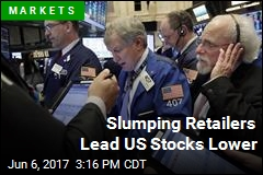Slumping Retailers Lead US Stocks Lower