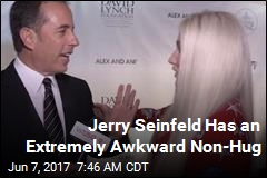 Jerry Seinfeld Has an Extremely Awkward Non-Hug