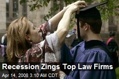 Recession Zings Top Law Firms