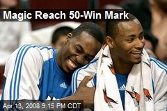 Magic Reach 50-Win Mark