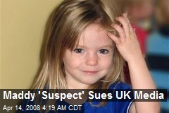 Maddy 'Suspect' Sues UK Media