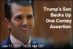 Trump's Son Backs Up One Comey Assertion