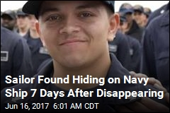 Sailor Found Hiding on Navy Ship 7 Days After Disappearing