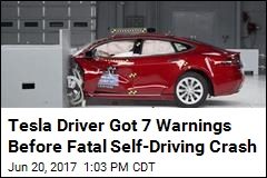 Tesla Driver Got 7 Warnings Before Fatal Self-Driving Crash