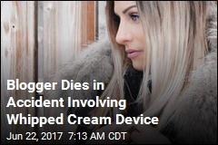 Blogger Dies in Accident Involving Whipped Cream Device