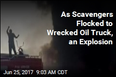 As Scavengers Flocked to Wrecked Oil Rig, an Explosion