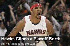 Hawks Clinch a Playoff Berth