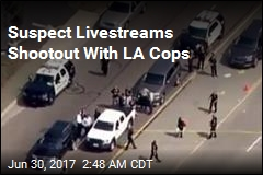 Suspect Livestreams Shootout With LA Cops