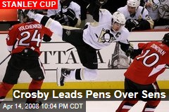 Crosby Leads Pens Over Sens