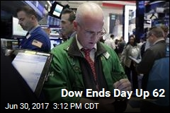 Dow Ends Day Up 62