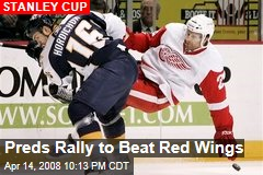 Preds Rally to Beat Red Wings