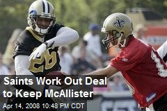 Saints Work Out Deal to Keep McAllister